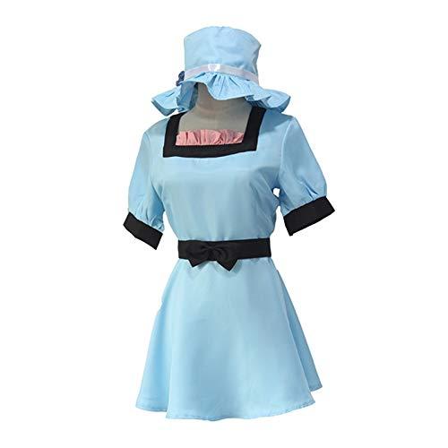 Anime Steins Gate Shiina Mayuri - Vestido azul con sombrero para disfraz de Halloween
