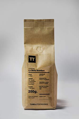 Cafe en grano natural Arabica 100% - Espresso - 250g - Finca La Bella - Bourbon - Tusell Tostadores