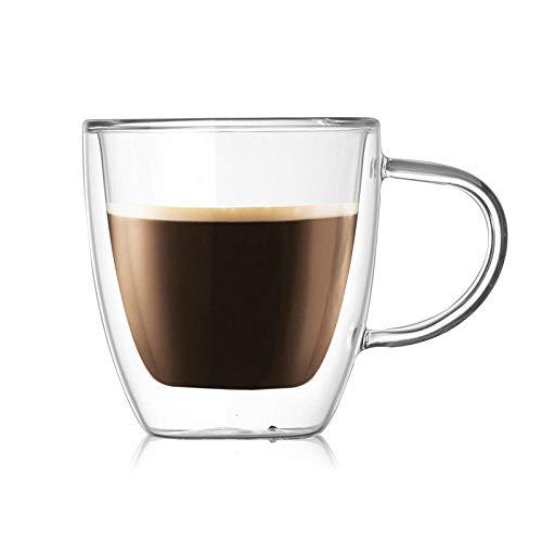 Tassen Mug Doppelwandige Glasbecher Milchsaft Wasser Kaffeetasse Transparente Becher 160Ml