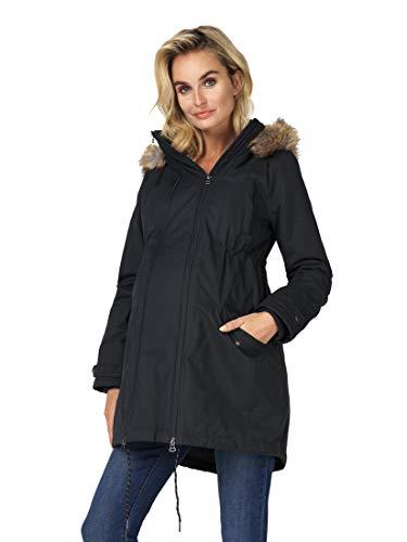Noppies Damen Jacket 2-Way Malin Umstandsjacke, Schwarz (Black P090), XS