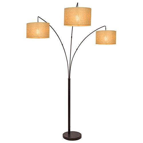 """Revel Akira 80"""" Modern 3-Light Arc Floor Lamp"""