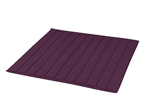 BLANC CERISE Tapis de Bain carré quetsche - Coton peigné 1000 g/m 60 x 60 cm