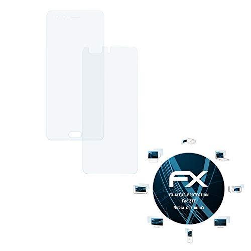 atFolix Schutzfolie kompatibel mit ZTE Nubia Z17 Minis Folie, ultraklare FX Bildschirmschutzfolie (3er Set)