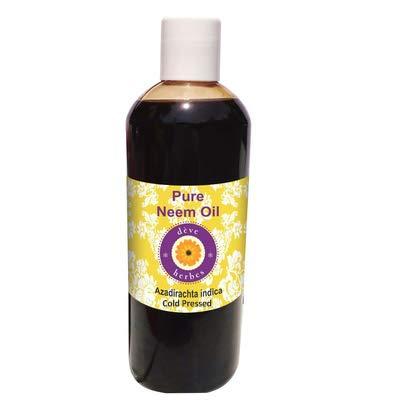 Huile de Neem pure Deve Herbes (Azadirachta indica), 100% naturelle, qualité thérapeutique, pressée à froid 200ml (6,76 oz)