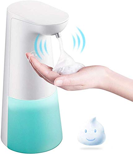 LAOPAO Dispensadores de Jabón, Sensor Dispensador de Jabón Automático Espuma Dispensador Espuma sin Contacto Dispensador de Manos 240ml para Baño Cocina