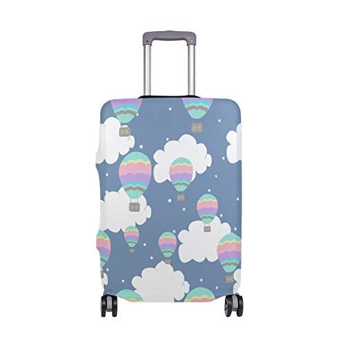 Cubierta de equipaje de viaje con impresión de globo elástico para maleta de equipaje lavable cubre para 45,7-32 pulgadas
