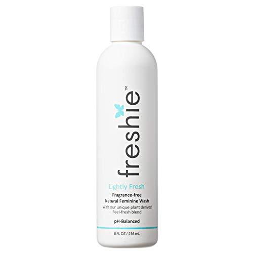 freshie Natural Feminine Care pH-Balanced Cleansing Wash Odor-Blocking Plant-Based Ingredients External Vaginal Hygiene Cleanser 8 fl Ounces (Lightly Fresh)
