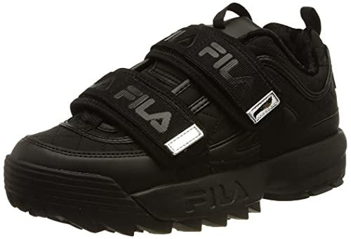 FILA Disruptor Straps Q wmn Sneaker Donna, Nero (Black/Silver), 39 EU