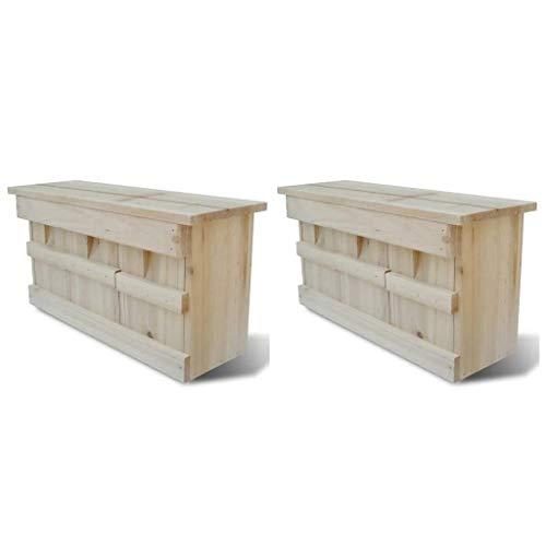 vidaXL 2X Holz Spatzenhaus Kolonienbrüter Spatzenvilla Nistkasten für Sperling