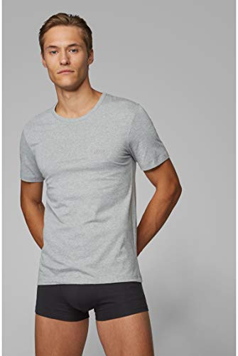BOSS Mens T-Shirt RN 3P CO Three-Pack of Underwear T-Shirts in Cotton