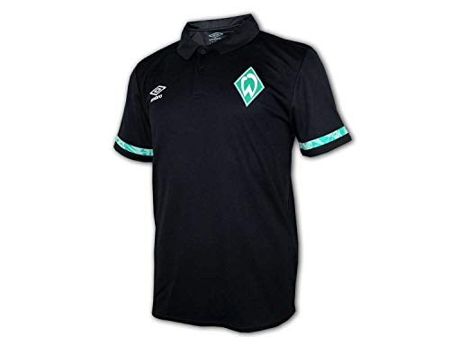 UMBRO Werder Bremen Poly Poloshirt schwarz SVW Polo Jersey Bundesliga Fan Shirt, Größe:XL