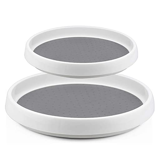2 Pack Lazy Susan for Cupboard Pantry Cabinet Turntable Rotatable Spice...
