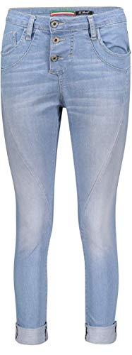 Please Damen Jeans P78a Boyfriend - Blau - Light Bleached Denim XXS XS S M L XL Stretchjeans 98% Baumwolle Denim Deluxe, Größe:S, Farbvariante:Light Bleached Denim (1670)