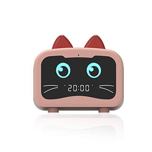 SUZONC Elf Wecker Bluetooth Audio Mit Radio Karte Cartoon Niedlichen Haustier Led Spiegel Wecker Bluetooth Audio 100 * 100 * 45Mm