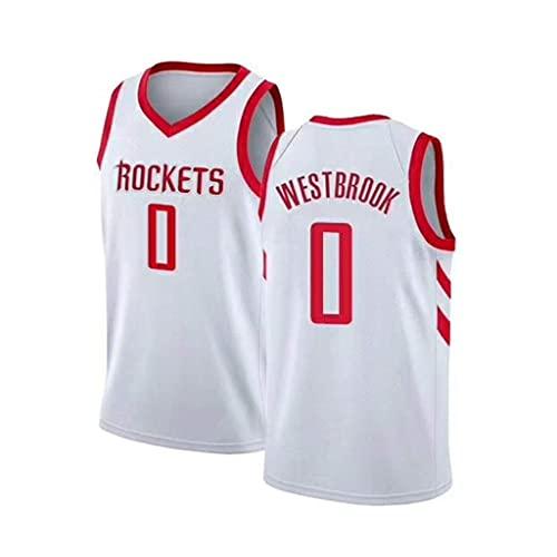 ZRHZB Camiseta de Baloncesto para Hombre-NBA Houston Rockets 0# Westbrook Chaleco de...