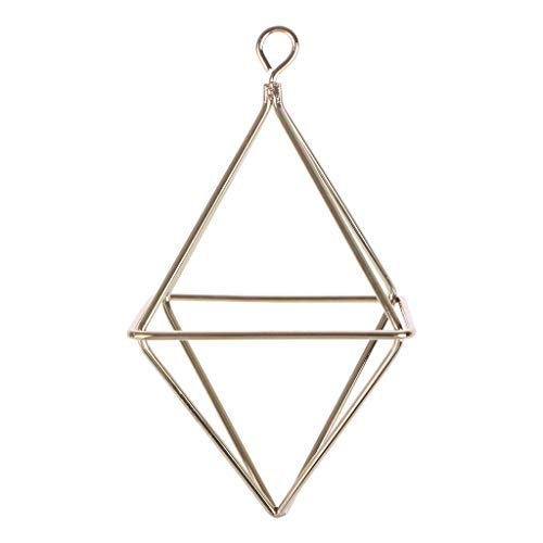 CADANIA Hängende Tillandsia Air Plants Rack Geometrische Diamantform-Blumenkübelkorb