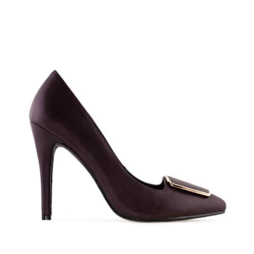 Andres Machado - High-Heels in Soft-Bordeaux mit Applikation.EU 33