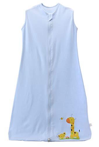 Chilsuessy Sommerschlafsack Baby Schlafsack Kleine Kinder Schlafanzug ohne Ärmel für Sommer und Frühling 100% Baumwolle (130/Koerpergroesse 130-150cm, Blau)