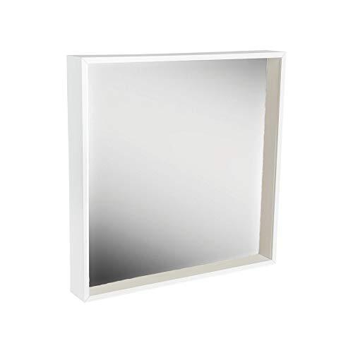 Harbour Housewares Box Mirror Frame - 16 x 16 Square Acrylic Frame - White