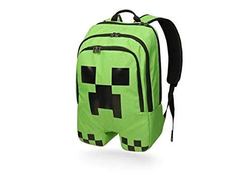 Mochila Bolsa Infantil com Desenho para Minecraft Unissex Escolar Original (VERDE)