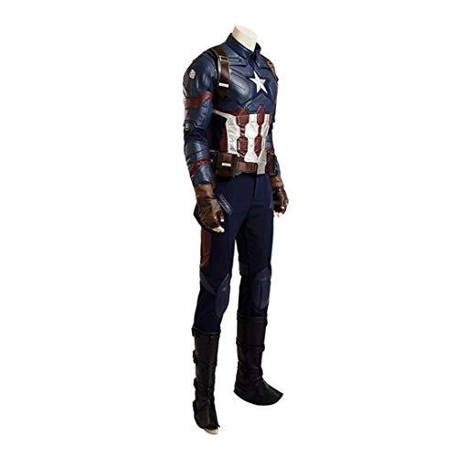 BLL Costume da Mostro in Pelle Captain America, Costume da palcoscenico di Halloween Men-M