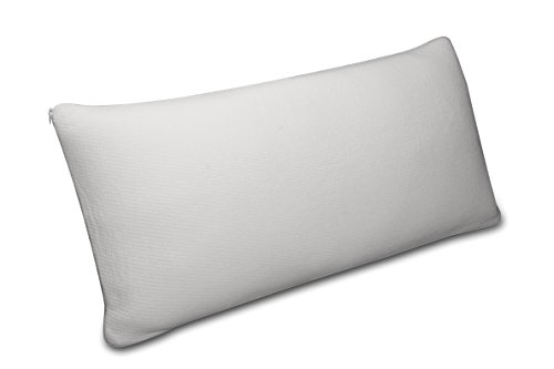 Sunlay - Almohada visco copos ergonómica de firmeza alta ideal para dormir de lado con funda de tejido strech de firmeza media