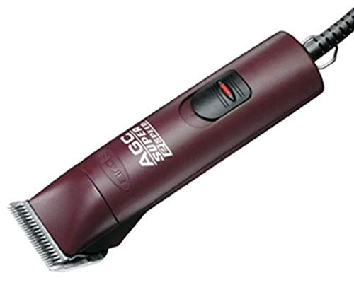 Andis 23280 ProClip Super 2-Speed Detachable Blade Clipper, Professional Animal/Dog Grooming, Burgundy, AGC2
