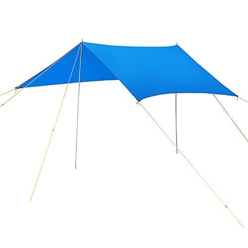 Ryyland-Home Voile Pare-Soleil Camping Tente Tarp Bâche Auvent Tapis de Sol hamac Canopy 3x3m Pluie Fly Shelter Shade Couverture Mat Pare-Soleil (Color : Royal Blue, Size : 300x300cm)