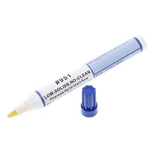 951 10 ml de soldadura flujo de la resina de la pluma de baja sólidos no limpia bricolaje Kester Solder de alimentación para soldadura Reparación de electrodomésticos Tabbing alambre de soldadura