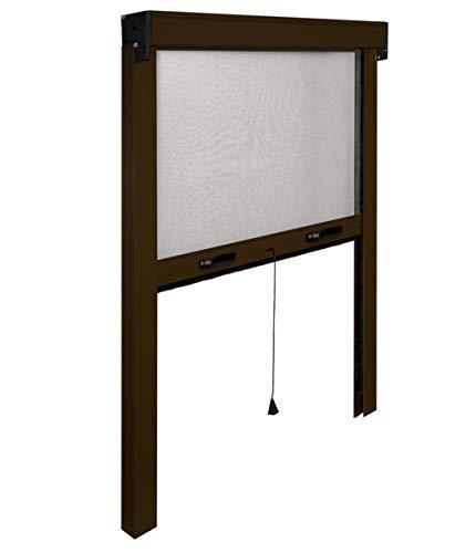 IRS cm 140 x 170 Marrone ral 8017 Moustiquaire Enroulable en Aluminium modèle Fin pour fenêtre 140 x 170 cm réductible, 1