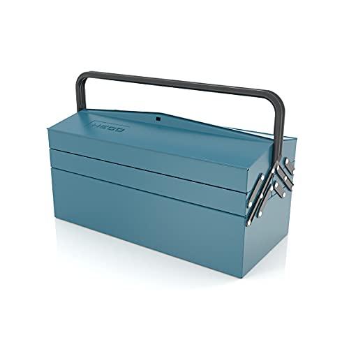 Conesa 108 5 Caja de herramientas metálica, Azul martelé, 430x205x210mm