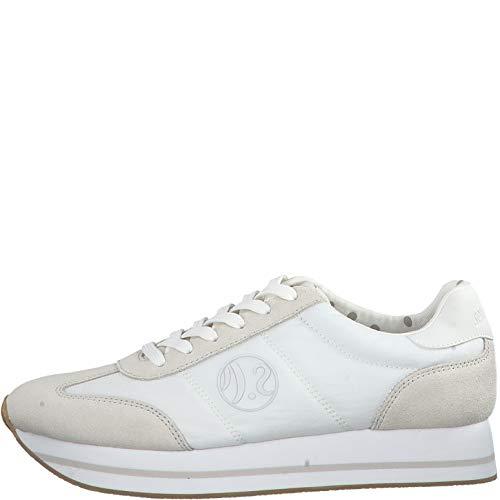 s.Oliver Damen Low-Top Sneaker 23612-22,Frauen Halbschuh,Sportschuh,Schnürschuh,atmungsaktiv,White,41 EU
