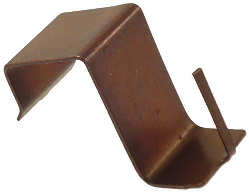 100 Supporti a molla per serramenti in PVC/Legno (Bronzo)