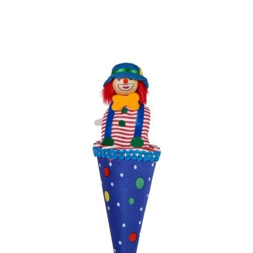 Brink Holzspielzeug Tütenkasper Clown blau mit bunten Punkten