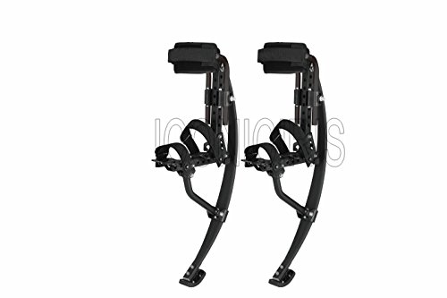 Skyrunner 2018 New Model Jumping Stilts POGO Stilts Kangaroo Shoes Bouncing Spring Stilts Men Women Fitness Exercise Black (Load Weight:120-130KG/265-287LBS)