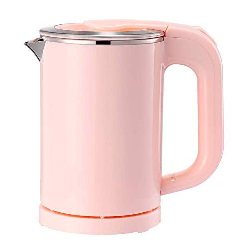 Eglaf 0.5L Small Electric Kettle - Portable Mini Stainless Steel Travel Kettle - Water Touch Inner Surface without Plastic & Cool Touch Outer Surface (Pink)