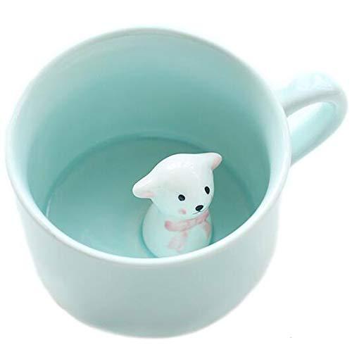 BigNoseDeer Kaffee-Milch-Tee-Keramik-Becher - 3D Tier-Morgen-Schale Morgengetränk und Hochzeiten, Geburtstage, Vatertag (Sheep)