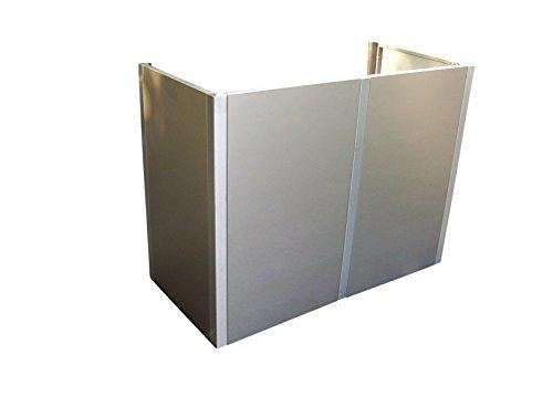 Gero metall Mülltonnen-Sichtschutz, Mülltonnenverkleidung Corso für Zwei 240 Liter Mülltonnen