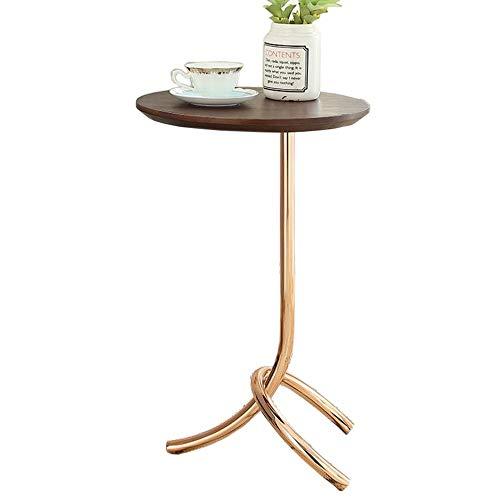Jcnfa-Tische Wohnzimmersofa Beistelltisch, Schmiedeeisen Basis, Plattenspieler Stand, 5 Größen (Color : A, Size : 50 * 50 * 63cm)