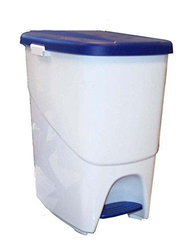Denox Cubo Basura ecológico, Azul y Blanco, Centimeters