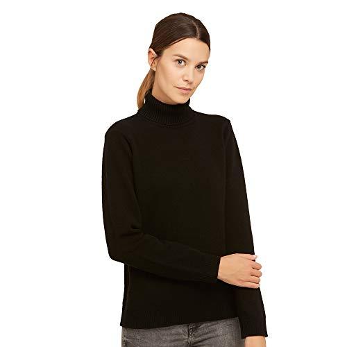 Dames Pullover Coltrui Sweater van 100% Virgin wol kleur zwart