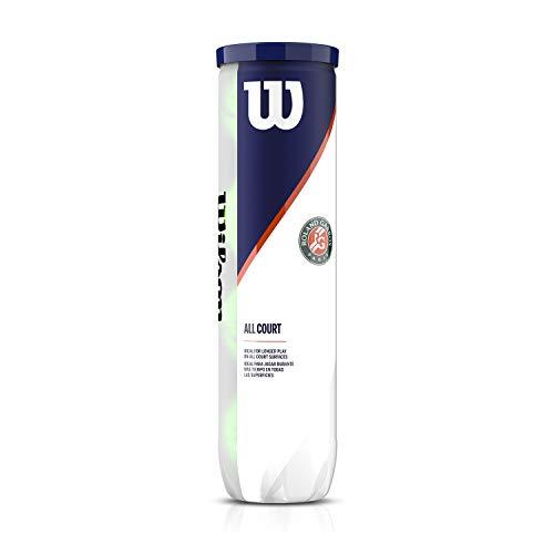 Wilson Roland Garros Official Pelotas, Conjunto de 2 tubos de 4 pelotas, Todas las superficies, Unisex Adulto