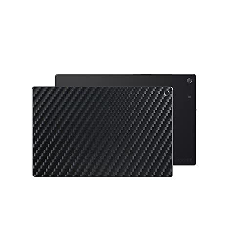 VacFun 2 Piezas Protector de pantalla Posterior, compatible con Sony Xperia Z2 Tablet SGP 512 511 541 10.1', Película de Trasera de Fibra de carbono negra Skin Piel