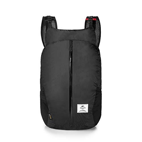 Naturehike Sac de Sport léger Cordura Tissu 30D Nylon Running Sac Pliant Pack Mode Sac À Dos Ville Sac NH18B510-B (Black)
