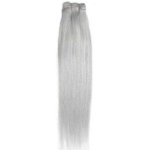 Forever Young - Extension in capelli veri, di ottima qualità, colore: grigio argento, 40,6 cm