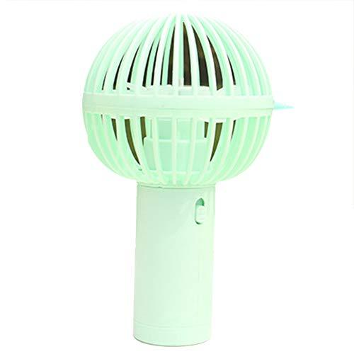 Ynnxia Kreative Mikrofon-Eiscreme-Styling Aufladen Kleiner Fan Schlafsaal Studenten tragen tragbare Mini-Fan EIN einfaches Design Reisen Dual-Use-Fan Grün