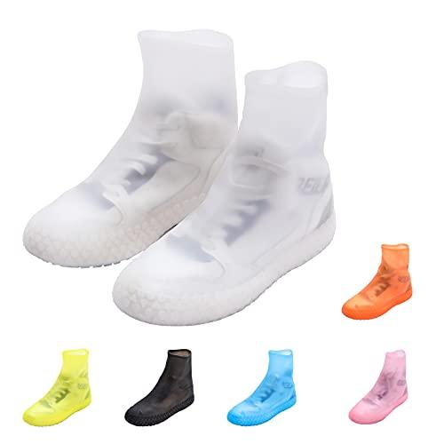 靴カバー防水滑り止めTPEラバーレインブーツカバー雨天時防雨耐摩耗性ボトムレインレインブーツフットカバーアダルトユニセックススーパーエラスティックワンサイズ