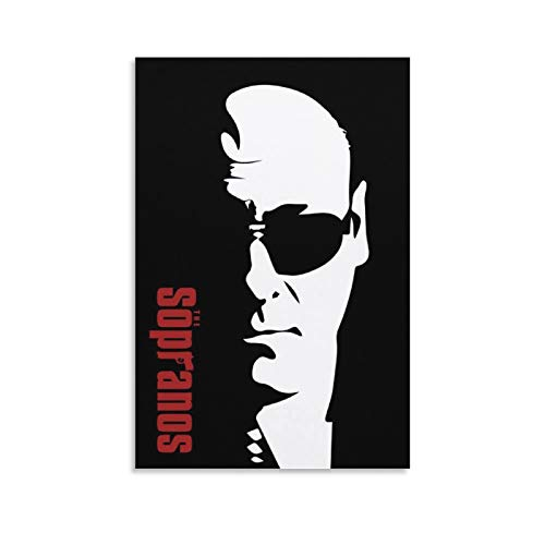 Tony Soprano Sunglasses Wall Art Poster , Artwork, Posters for Wall, Game Room Poster, Canvas Art, No Frame Poster, Original Art Poster Gift Canvas Poster Wall Art Decor Print Picture Paintings for Li