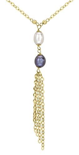 Carissima Gold 9 Karat 375er Gelbgold Quastenkette mit Rosa, Blau und Weissen Perlen 46m 1.15.3824