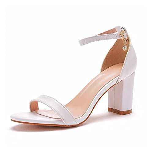 Rails - Sandali da donna con tacco a blocco, cinturino alla caviglia, con tacco alto, punta aperta, con pompe grosse, da donna (taglia 6,5)